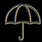LPB Conseil - Illustration parapluie bleu et or